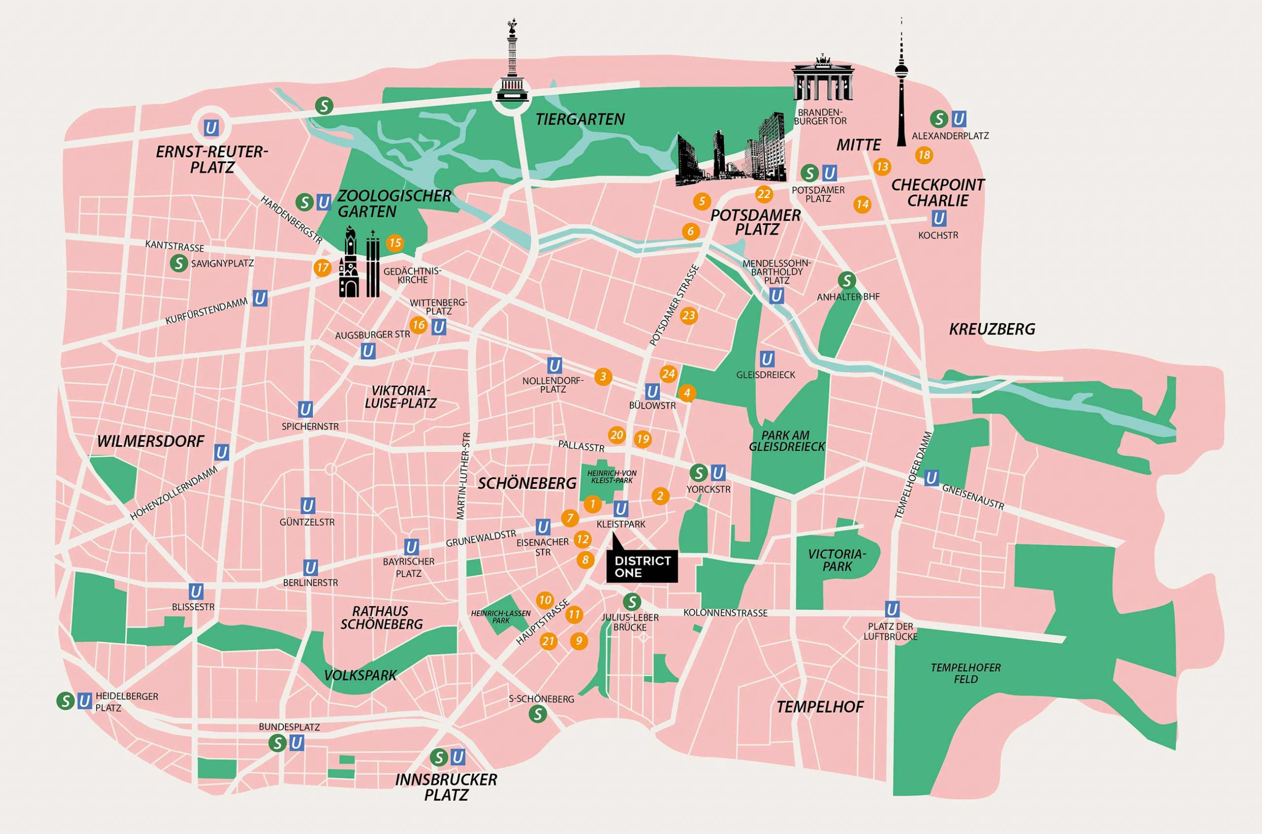 District One Berlin Schöneberg Map